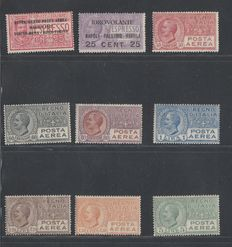 Italy 1917/1937 - Airmail collection of stamps, only complete sets