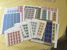 Luxembourg 1959/1967 - Selection of various issues in sheet parts