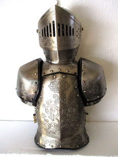 Vintage Wine Cellar with the figure of a knight in armor