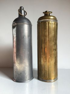 Lot of two Thermos in brass and Tin - France