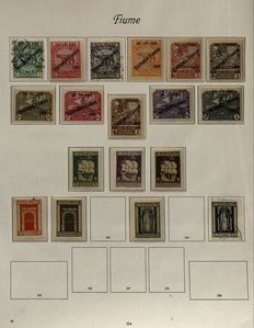 Fiume 1918/1924 - Collection on Album Sheets with Occupation of the Carnaro Islands and Michel 131/141