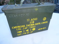 Steel Munition crate for 7.62 mm NATO Linked