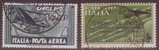 Italy 1933/1934 - Airmail 2 stamps - Sassone 44 and 57