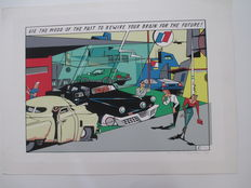 """Meulen, Ever - Serigraphy Repérage - """" Use the mood of the past to rewire your brain for the future! """" - (1982)"""