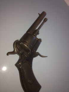 Rare Pinfire Revolver with Safety Catch