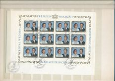 Luxembourg 1963/2000 - Collection of stamps and postal stationaries in stock book and Leuchtturm album