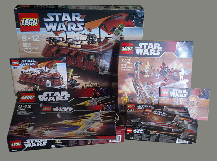 Star Wars - 7 sets o.a. 6210 + 4479 - Jabba's Sail Barge + TIE Bomber for sale  London