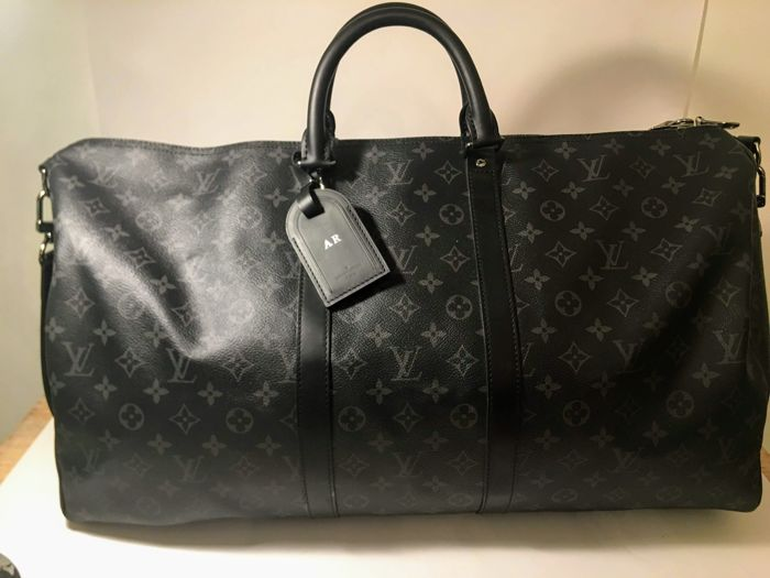 81c7582e429 Louis Vuitton Keepall Bandouliere 55 Travel Bag Catawiki