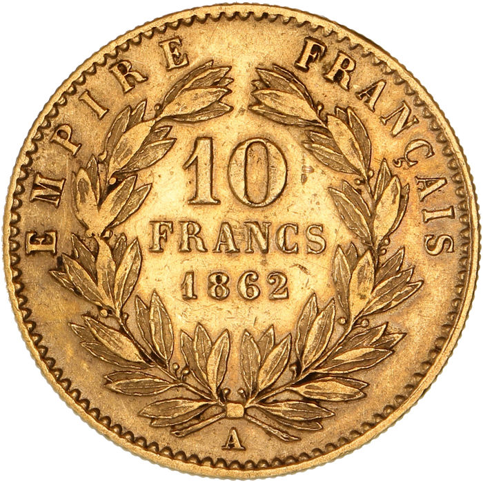 10 Francs 1862-A Napoleon III - Or