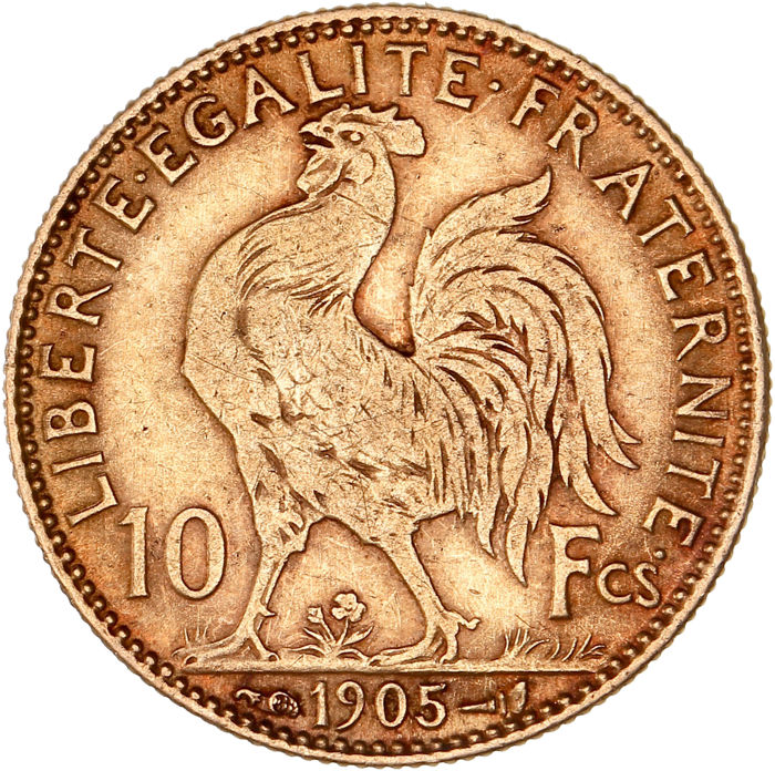 10 Francs 1905 Marianne - Or