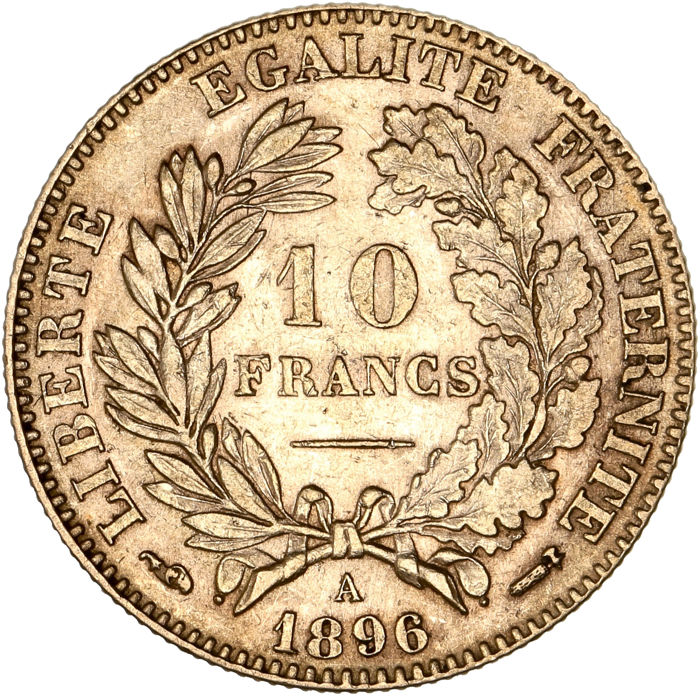 10 Francs 1896-A Cérès - Or