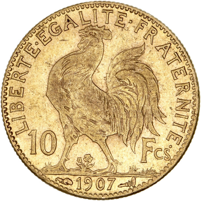 10 Francs 1907 Marianne - Or