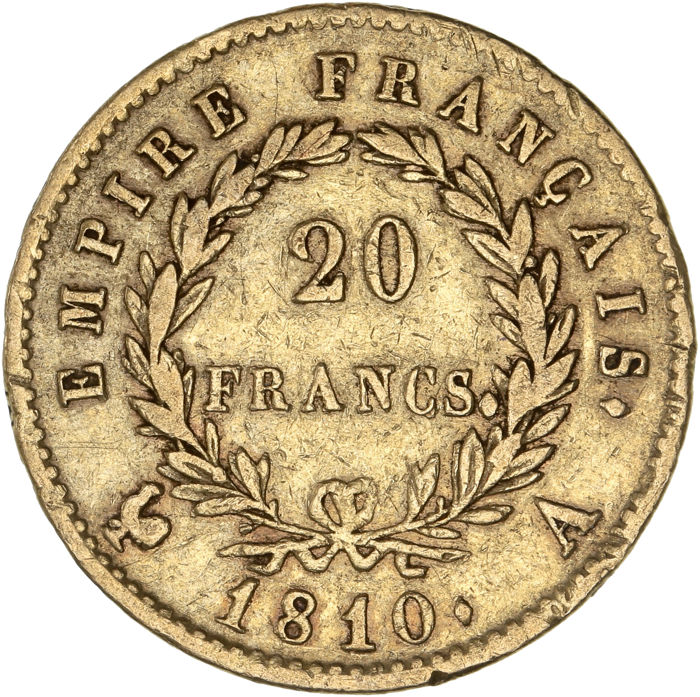 20 Francs 1810-A Napoleon I - Or