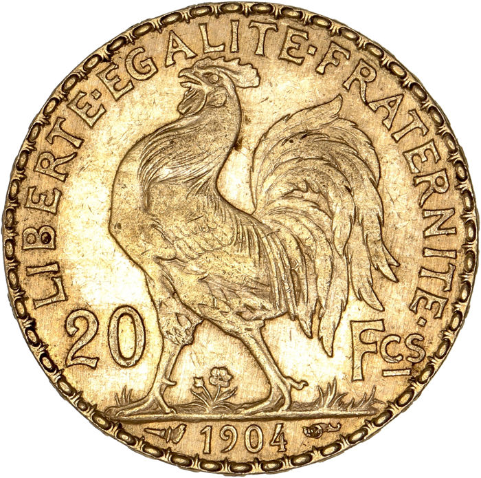 20 Francs  1904 Marianne - Or