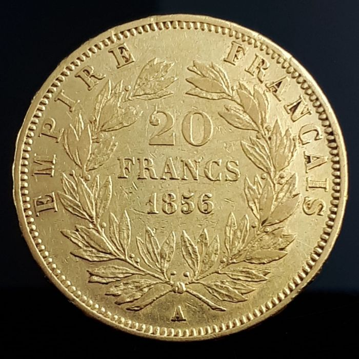 20 Francs 1856 A Napoleon III - Or