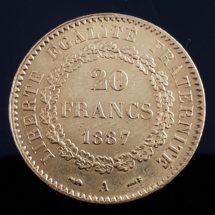 20 Francs 1887 A Genius - Or