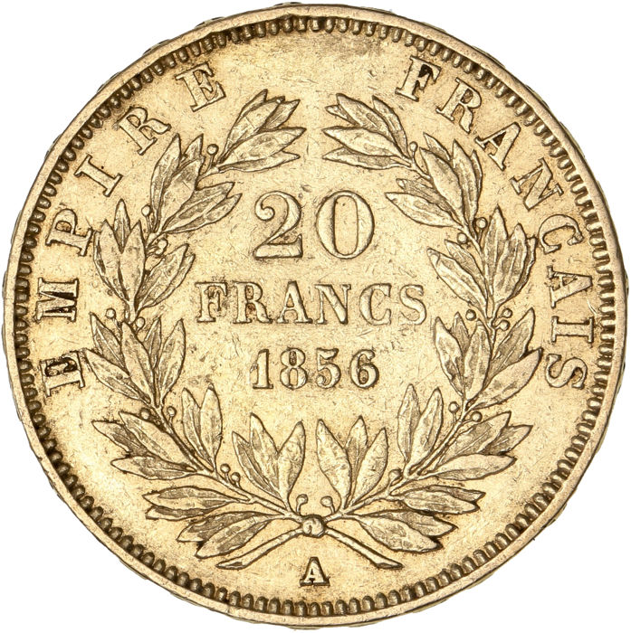 20 Francs 1856-A Napoléon III - Or