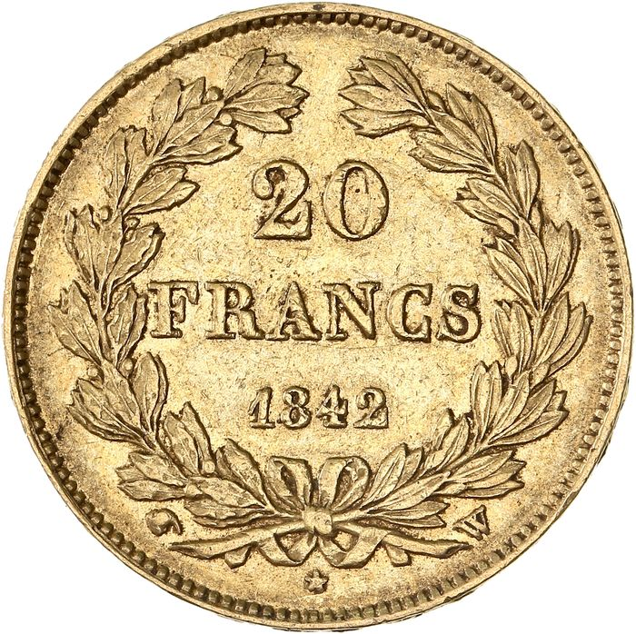 20 Francs  1842-W Louis Philippe I - Or