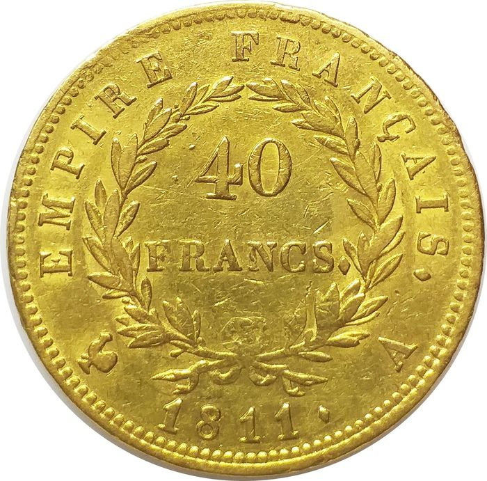 40 Francs 1811 A Napoleon I - Or