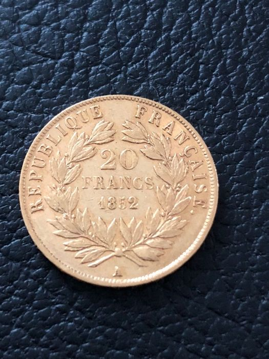 20 Francs 1852 A Napoleon III - Or