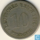 German Empire 10 pfennig 1874 H