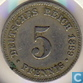 German Empire 5 pfennig 1889 J