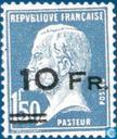 Most valuable item - Louis Pasteur, with overprint