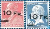 Postage stamps of 1923-1927, with overprint