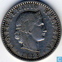 Switzerland 20 rappen 1883