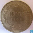 Coin - Turkey - Turkey 1000 lira 1991