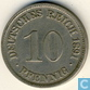 German Empire 10 pfennig 1891 D