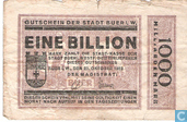 Banknotes - Buer in Westfalen - Stadt - Buer, Westphalia 1 Billion Mark