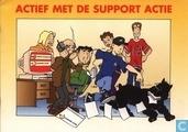 Actief met de support actie