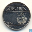 Aruba 25 cents 1986
