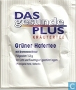 Tea bags and Tea labels - Das Gesunde Plus (DM) - Grüner Hafertee