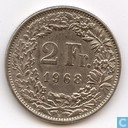 Coin - Switzerland - Switzerland 2 francs 1968 (B)