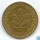 Coins - Germany - Germany 10 pfennig 1980 (F)
