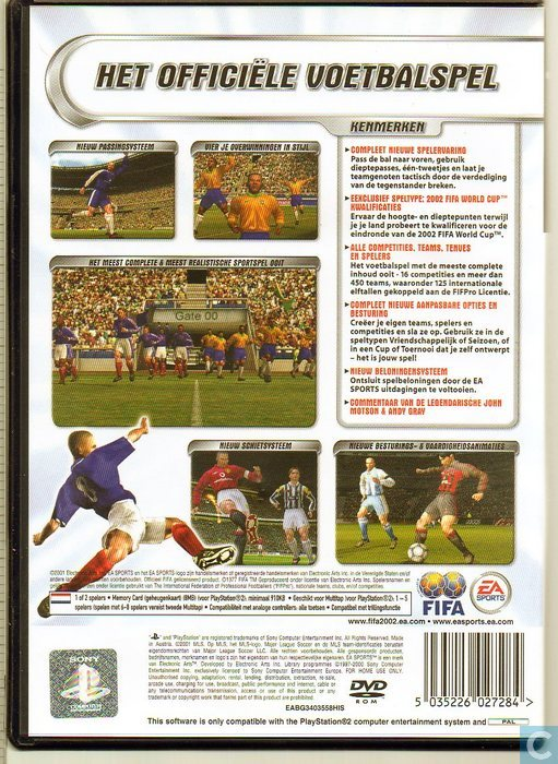Video games - Sony Playstation 2 - Fifa Football 2002