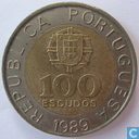 Coins - Portugal - Portugal 100 escudos 1989 (5 reeded and 5 plain sections)