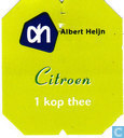 Tea bag label - Albert Heijn - Citroen