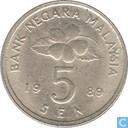 Coins - Malaysia - Malaysia 5 sen 1989