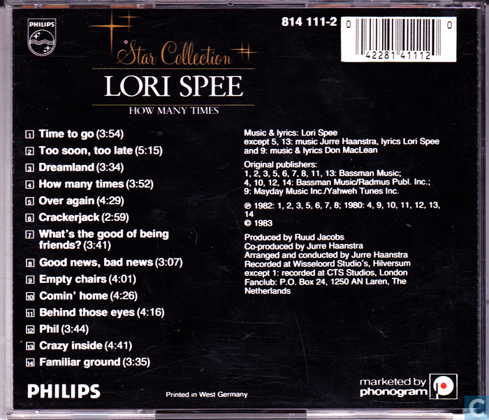 Platen en CD's - Spee, Lori - How many times