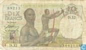 Afrique de l'Ouest français 10 Francs