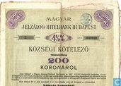Magyar Jelzalog Hitelbank Budapest, Obligatie 4,5%, 1910
