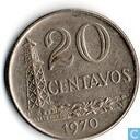 Coins - Brazil - Brasil 20 centavos 1970