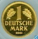 "Germany 1 mark 2001 D (PROOF) ""Retirement of the Mark Currency"""