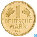 "Germany 1 mark 2001 A (PROOF) ""Retirement of the Mark Currency"""