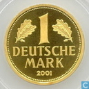 "Germany 1 mark 2001 J (PROOF) ""Retirement of the Mark Currency"""