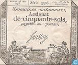 Banknotes - Assignat - France 50 Sols