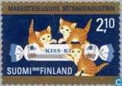 Briefmarken - Finnland - 100 Jahre Süßigkeiten